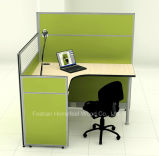 Mobilier de bureau monobloc à bureau modulaire en verre givré (HF-YZ054)