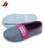 Respirable Plat los zapatos ocasionales de los niños de los zapatos de las inyecciones de la lona del vendaje con Blingbling