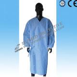 SMS Steriled vestido quirúrgico, desechable SMS reforzado no tejido vestido