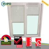 Finestra di vetro di UPVC/PVC, disegno di vetro interno dei ciechi di finestra