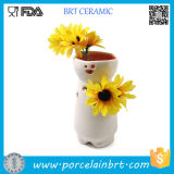 Sale Flower Vase를 위한 장식적인 White Ceramic Cheap Bud Vases