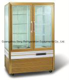 Refrigerador de cristal vertical de la visualización de la torta de la puerta de la aleación de aluminio hecho en China