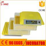 Hhd 96는 가득 차있는 자동적인 가금 부화기 기계 12 달 Warraty Eggs