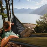 hangmat van de Stof van de Hangmat 100%Nylon van het Valscherm van de Grootte van 280*185cm de Grote voor het Openlucht Kamperen