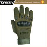 屋外の完全な指の戦術的なAirsoft軍ハンチング手袋の黒