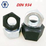DIN934 noix Hex Cl8 galvanisées/noir