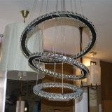 El lujo decorativo K9 del hotel borra la lámpara pendiente redonda cristalina