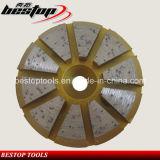 Meule en pierre de meulage conique de 10 segments pour la rectifieuse d'étage
