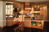 アメリカの標準標準的な純木の食器棚