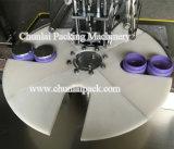 装飾的なクリーム色の瓶のシーリング機械