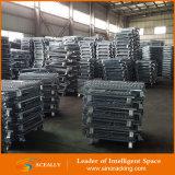 Chapado en zinc para trabajo pesado apilable de alambre de malla de contenedores