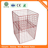 Steel all'ingrosso Warehouse Mesh Container con Wheels