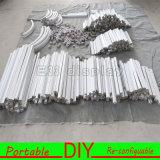 Горячая продавая портативная разносторонняя многоразовая алюминиевая будочка выставки ткани 2016
