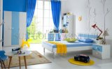 1인용 침대 (SZ-BF8867)가 높은 광택 젊음 침실 가구 파랑에 의하여 농담을 한다