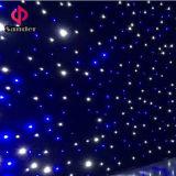 Cortina Twinkling para el concierto de la música, decoración del paño de la estrella del cielo del LED del hotel