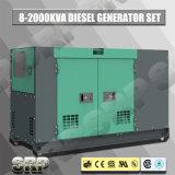 jogo de gerador 10kVA de geração Diesel silencioso psto por Perkins Motor