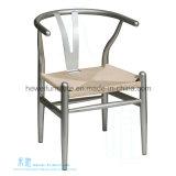 밀짚 방석 (DW-3501C)를 가진 의자를 식사하는 현대 중국 작풍 금속