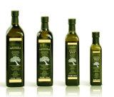 Bottiglia di vetro piacevole dell'olio di oliva con la protezione del metallo