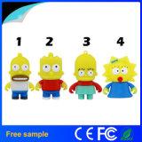 Movimentação quente do flash do USB de Simpsons do baronete do projeto dos desenhos animados da venda