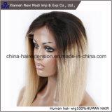 ブラジルの女性人間の毛髪2カラーレースの前部かつら