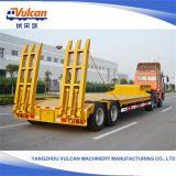 Remorque à plat personnalisée de camion de tambour de chalut de chantier naval de tonne des essieux 60-100