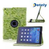 Cassa impressa leggera ultra sottile dell'aria del iPad del ridurre in pani del coperchio del basamento di vibrazione del cuoio di disegno del reticolo di fiore