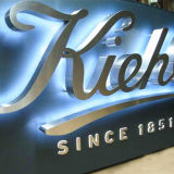 Halo Lit LED Lighting Polished Finish Edelstahl 3D Sign