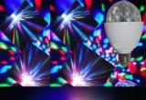 ETL 3W E27 DEL tournant la lumière de disco de RVB