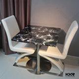 까만 가구 인공적인 돌 정연한 커피용 탁자