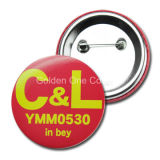 昇進のギフトの安いカスタムフルカラーの印刷された金属ボタンのバッジ