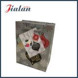 128GSM 광택 있는 박판으로 만들어진 아트지 크리스마스 쇼핑 선물 종이 봉지
