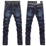 Producto de la fábrica los pantalones elásticos de los pantalones vaqueros del basculador de la cintura de los hombres