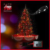 도매 아름다운 PVC 눈이 내리는 크리스마스 나무 다채로운 장신구 훈장