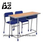 Bureau d'élève en métal et en bois et présidence (BZ-0026)