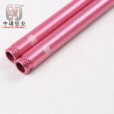 Tube en aluminium rose droit élégant pour sanitaire (AE-ST3)