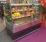 Portello di vetro ad angolo retto con la vetrina facoltativa della torta di formato delle 3 mensole