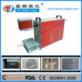 Barcode/Qr Code-/Text-Laser-Markierungs-Maschine auf Befestigungsteilen, Metalloberfläche