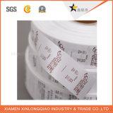Escritura de la etiqueta cuidadosa tejida impresión impresa lavable de la colada del paño de la etiqueta engomada de la ropa