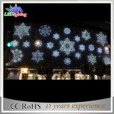 Luz de suspensão IP44 do floco de neve do motivo do Natal do floco de neve da decoração da alameda de compra 2D