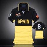 T-shirts du polo des hommes courts en bonne santé de chemise du propriétaire 100%Cotton (A297)
