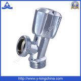 Soupape de cornière sanitaire plaquée par chrome de tuyauterie en laiton pour la toilette (YD-5011)