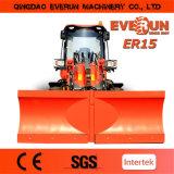 Everun Brand Compact Wheel Loader Er15 con Pallet Forks