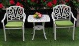 """最もよい上等の鋳造アルミ表および椅子35の"""" x35 """"屋外の庭の家具のブラウンの終わりの石の上"""
