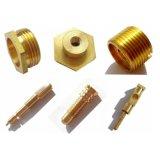 Proceso de cobre amarillo del torno del metal del CNC que trabaja a máquina