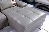 O melhor L de venda sofá do lazer do couro genuíno da forma