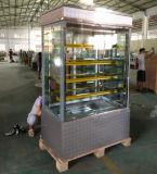 縦の冷やされていたパン屋の陳列ケースかペストリーのショーケース(S770V-M)