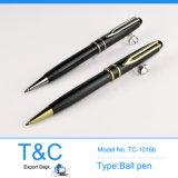 Stylo de rouleau en métal de noir de cadeau d'affaires avec le stylo de chapeau de logo de laser (TC-1018r)
