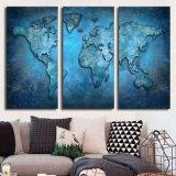 Gedrucktes blaues abstraktes Karten-Malleinwand-Druck-Raum-Dekor-Druck-Plakat-Abbildung-Segeltuch Mc-061