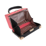 Saco exótico da caixa das mulheres do fecho das cores do contraste da borda dos rebites (MBNO042020)