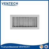 Double grille d'aération de fléchissement d'Aluninum pour l'usage de ventilation